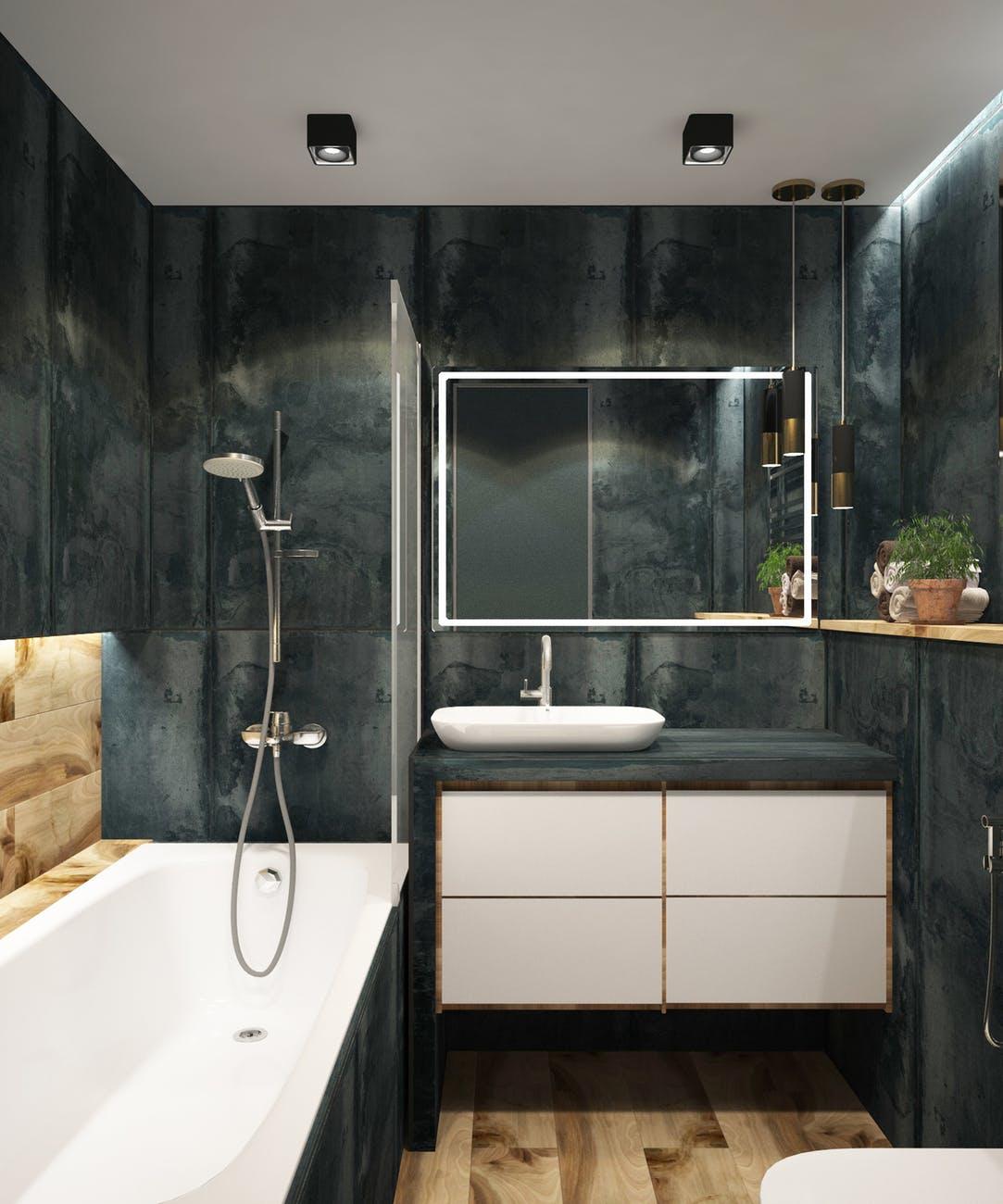 Arredare il bagno di casa con il blu