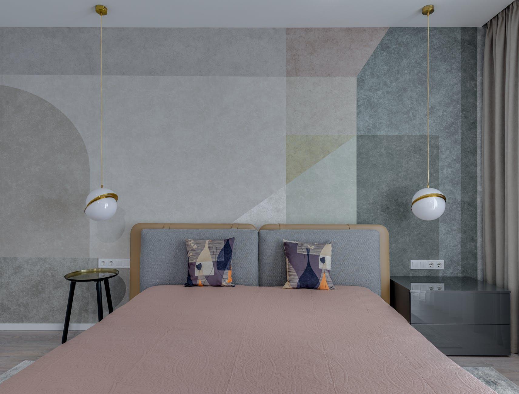 camera da letto nel raffinato color sabbia
